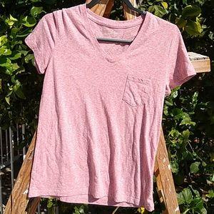 Universal T-shirt V-Neck Dusty Rose S